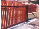 Brána samonosná -vlastní výplň hnědá 2000x4500